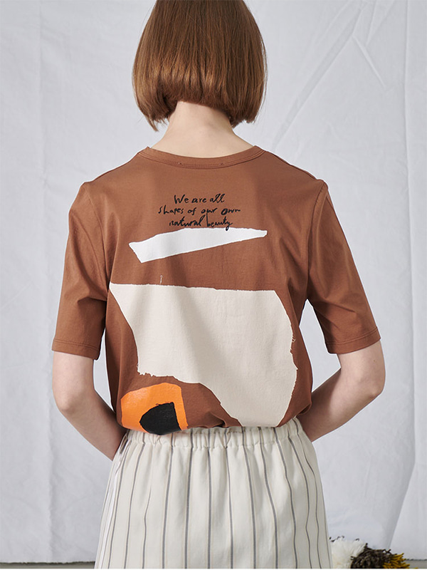 SHAPE GRAPHIC T-SHIRT_BEIGE
