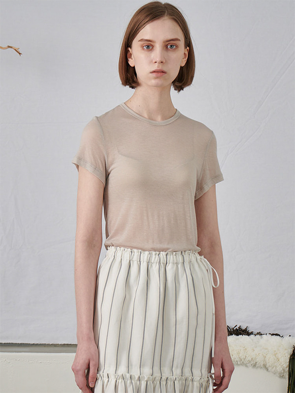 SEE THROUGH T-SHIRT_BEIGE
